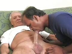 Indian father deep throating..